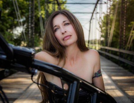 Jodi on her bike