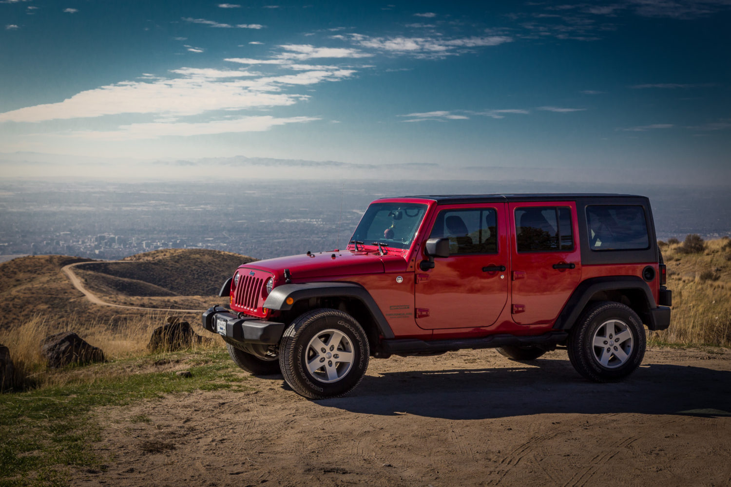 Jeep above Boise