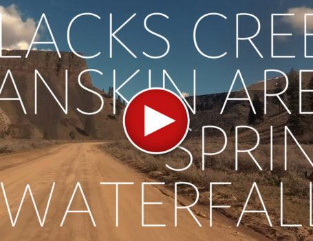 Aerial views of Waterfalls along Blacks Creek